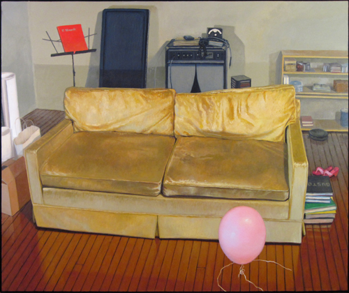 love seat, oil on canvas, 54x 64, 2010