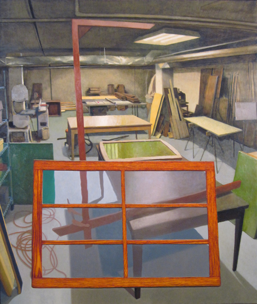 our geometry is a fiction of cleanliness, oil on canvas, 64x 54, 2010
