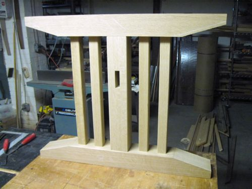 Assembled pedestal before chamfering.